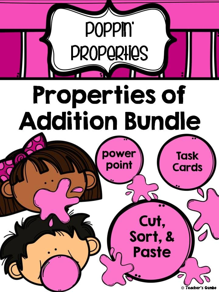 Associate, Commutative, and Identity Properties of Addition Bundle