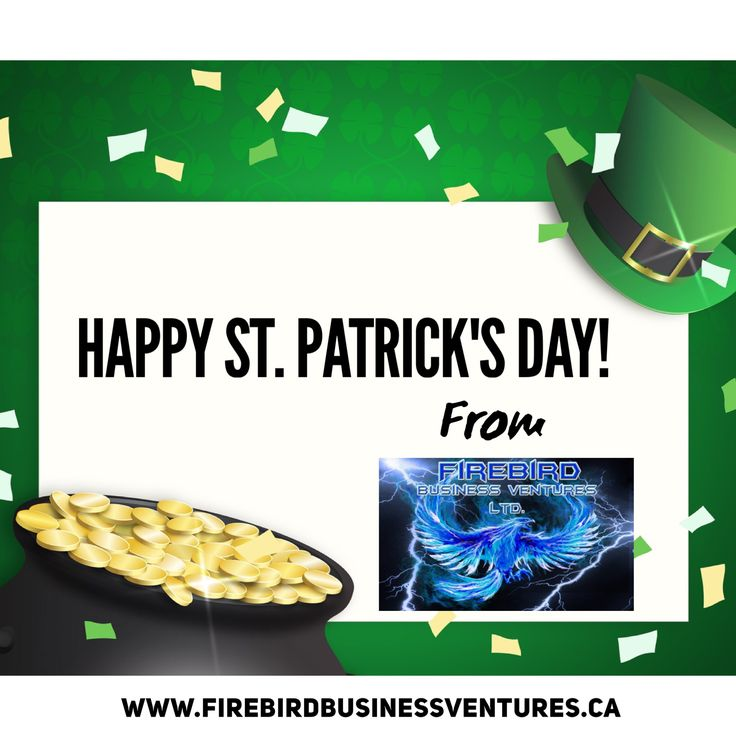 Happy St. Patrick's Day!   Check out Firebird Business Ventures Ltd  Firebird Business Ventures Ltd. (Incubator/Accelerator/Investor) management consulting services helps manage by creating a plan for growth and long-term sustainability.   www.firebirdbusinessventures.ca  #Incubator #Accelerator #BusinessPartner #VC #StartUps #Ventures #Sask #yxe #yqr #StPatricksDay #Happy #Lucky #4Leaf