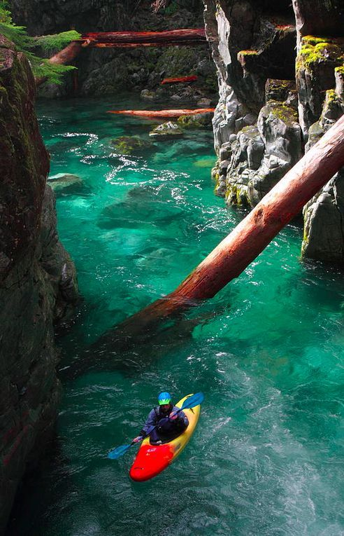 Opal Creek Gorge Kayak Canvas Prints Oregon And The O Jays
