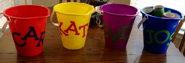 Dyi Easy Easter Baskets I Used Plastic Beach Pails From
