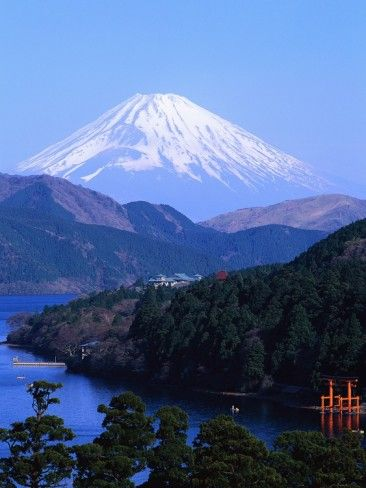 Mount Fuji and Lake Ashi, Hakone, Kanagawa, Japan