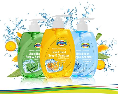 The Vitamin Company Liquid Hand Soap & Sanitizer Aloe 500 ML