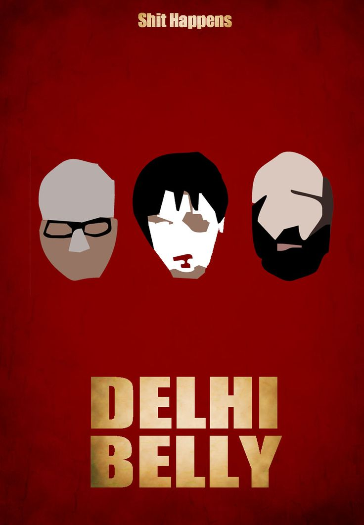 Some of the most creative Minimal Bollywood Movie Posters. #BhagDKBose #ImranKhan #DelhiBelly