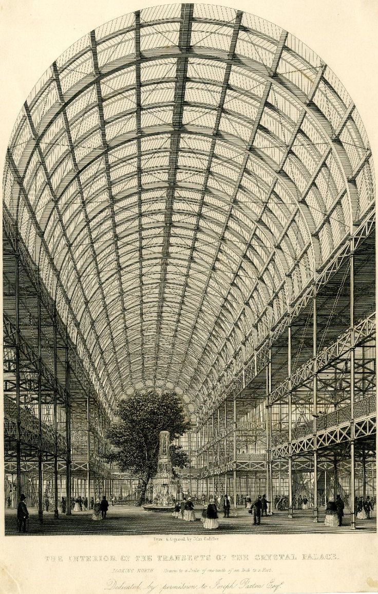 Interior of the Crystal Palace in Hyde Park, erected to