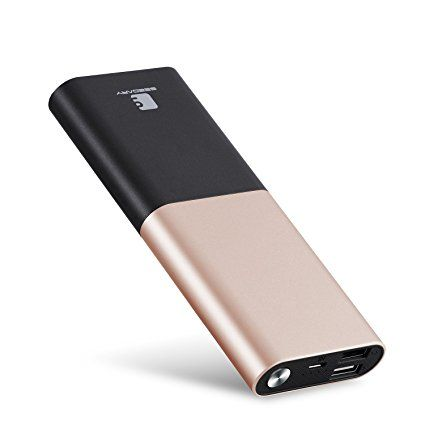 Power Bank 10000mAh , Seedary Portable Powerbank External Battery Charger Backup for Apple iPhone, Samsung Android Phones, Tablets, MP3 Players – Gold Review 2017
