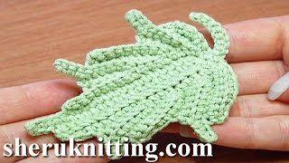 crochet leaves - YouTube