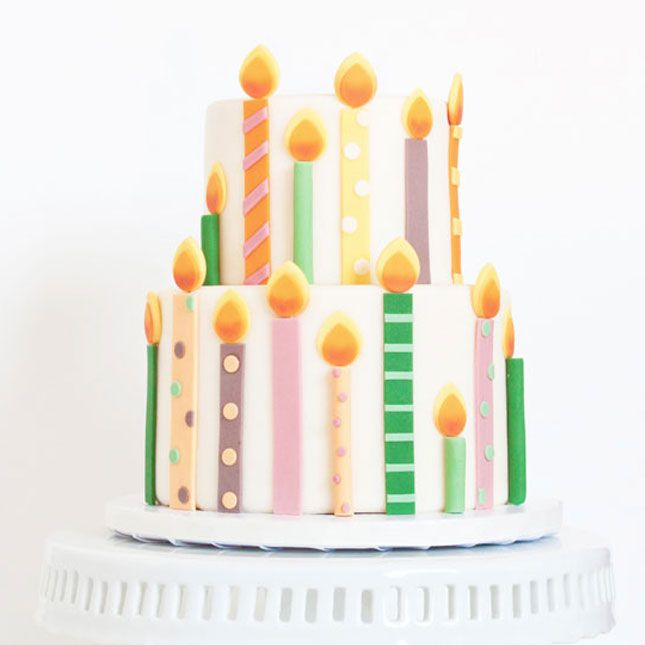 Skip the candles this year and embellish your cake with fondant.