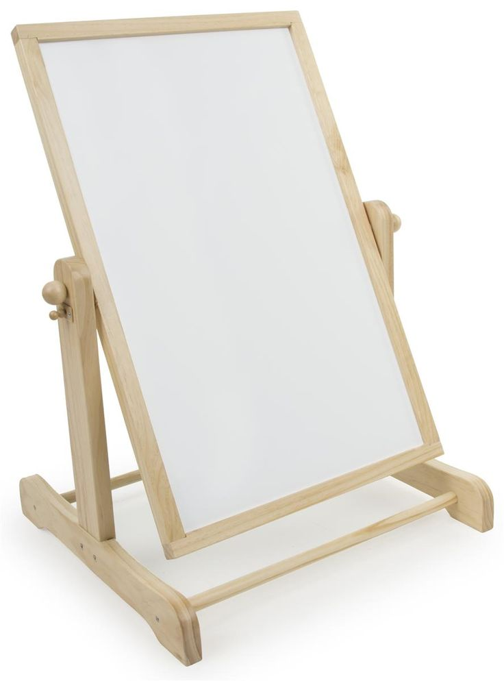Childrens Easel with Chalkboard and Write-on White Board, 2 Sided, Swing Style Board