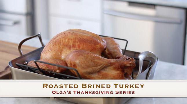 Roasted Brined Turkey Video Recipe