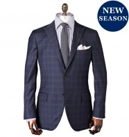 Hojo Check Navy Suit