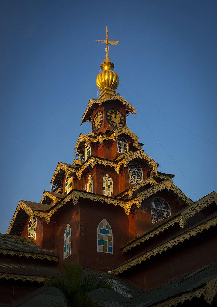 Monastery Tower, Sittwe, Myanmar   by Eric Lafforgue