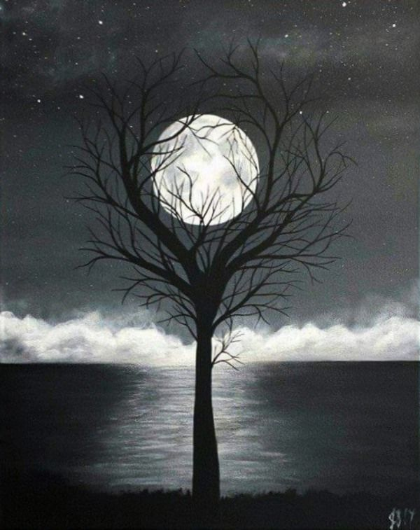 Black And White Painting Ideas On Canvas Paintings