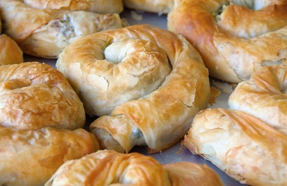 Быстрые турецкие пирожки из лаваша с грибной начинкой Gul boregi