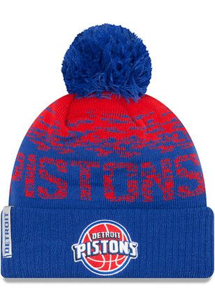 New Era Detroit Pistons Blue NE16 Sport Knit Hat