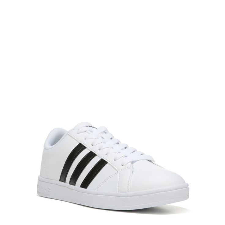 Adidas Men's Neo Baseline Sneakers (White/Black) - 13.0 M