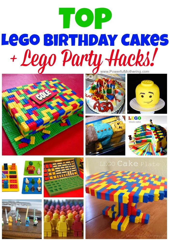 I love this collection of do-able lego birthday cakes. Each has a how to and can easily be made. Besides lego birthday cakes I also included a few lego hacks for your lego party idea planning!