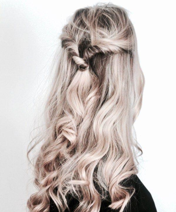 Easy updo for long hair with curls | Julia Linn
