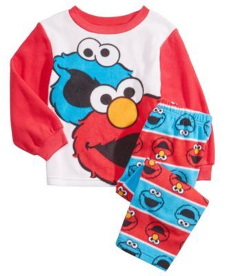 fd8b16131 Sesame Street 2-Pc. Elmo   Cookie Monster Pajama Set