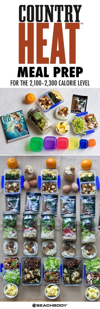 It's that time ya'll! Meal prep time, Country Heat edition. This new countryfied meal plan is a delicious way to fuel all of the dancing you'll be doing. There's not a single deep-fried food in the bunch, but you will LOVE all the southern comforts you'll be whipping up this week. // meal prep // country heat // healthy // food // recipes // health // Beachbody // BeachbodyBlog.com