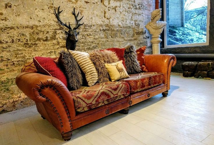 A amazingly unique sofa, truly iconic! The sofa is deep and comfortable, unlike many leather sofa, so you can snuggle up. Barker and Stonehouse (we were told) 4 seater sofa in a stunning thick leather in a rich chestnut brown made by Tetrad (Eastwood model). | eBay!