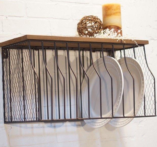 Wall Mounted Plate Rack   Hanging Plate Rack