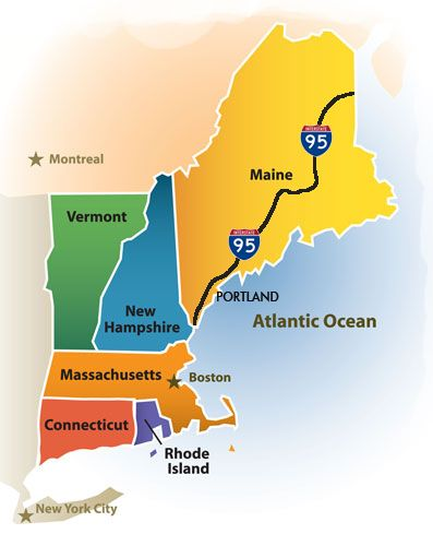 New England Driving Tour Maps