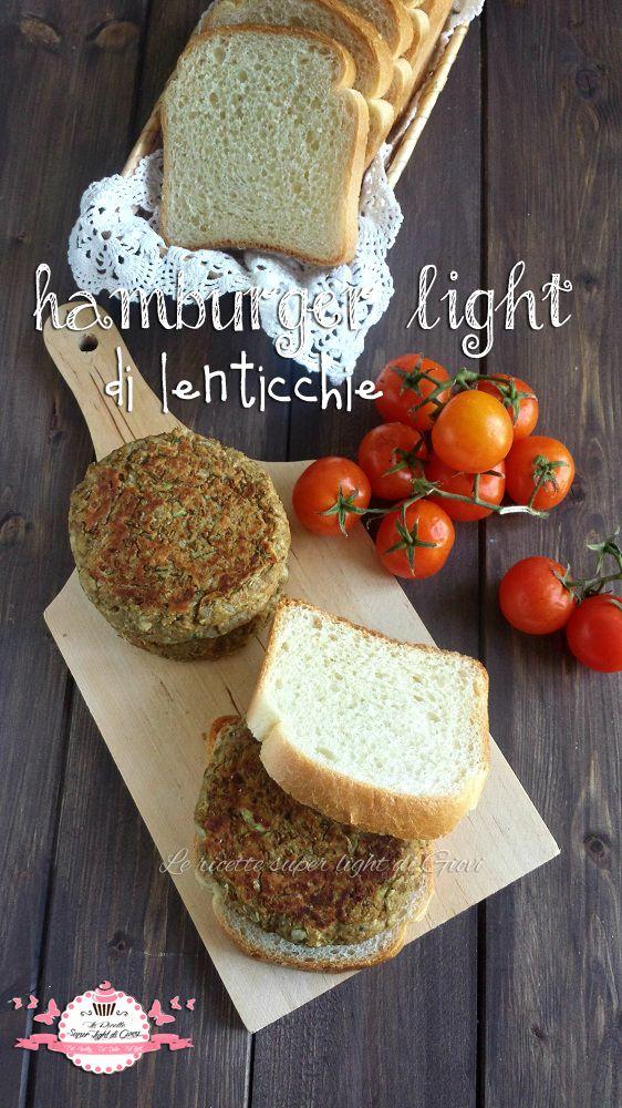 Hamburger light di lenticchie