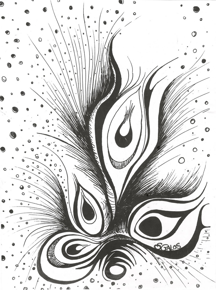 feather doodle /      l love to draw