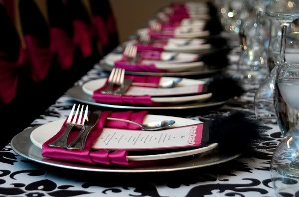 black, white and fucsia.. love the idea but change the colors to gray and green!