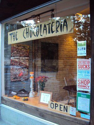 The Chocolateria is a must stop along the Roncy strip. Try some deer droppings—chocolate-covered jube jubes —or a festive bag of coal—chocolate-covered sponge toffee in a burlap sack