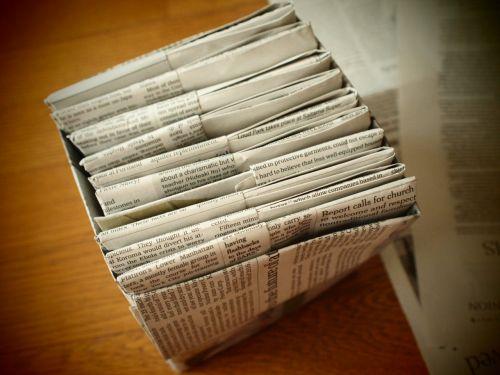 私のお気に入り。新聞紙で作るゴミ箱とマチありの袋 |かたづけの口土日日