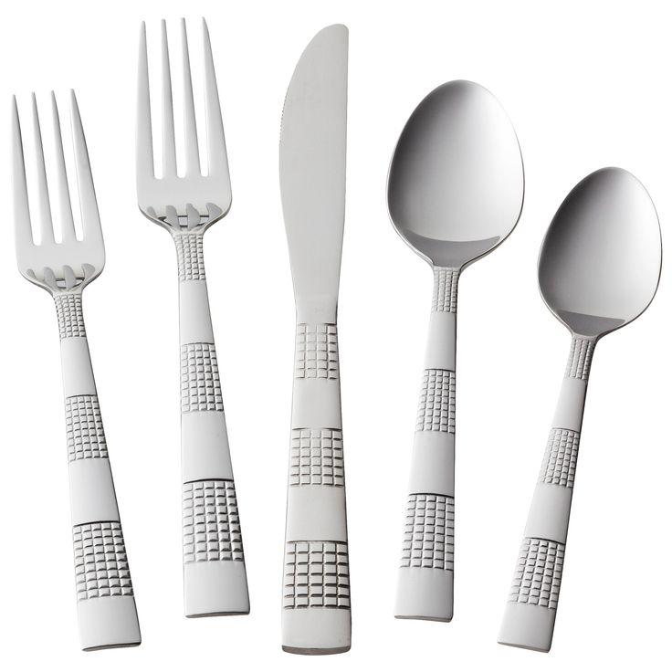 Circa Silverware Set 20-pc. Stainless Steel - Room Essentials, Silver