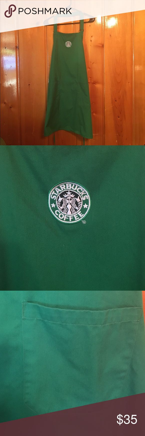 Starbucks Apron Green Starbucks apron with two large pockets superior uniform group Other