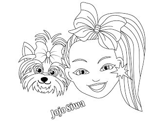 Jojo Siwa coloring Pages - AnimationsA2Z in 2020 ...
