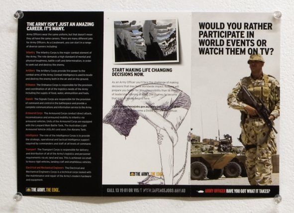 Participate in world events - ballpoint pen on leaflet 2008