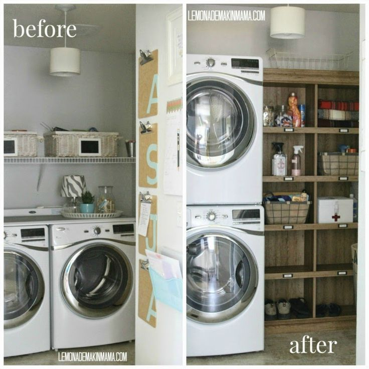 Laundry Room makeover for functionality