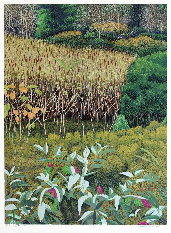 Autumn Berries by Gordon Louis Mortensen. A color reduction woodcut edition of 52.