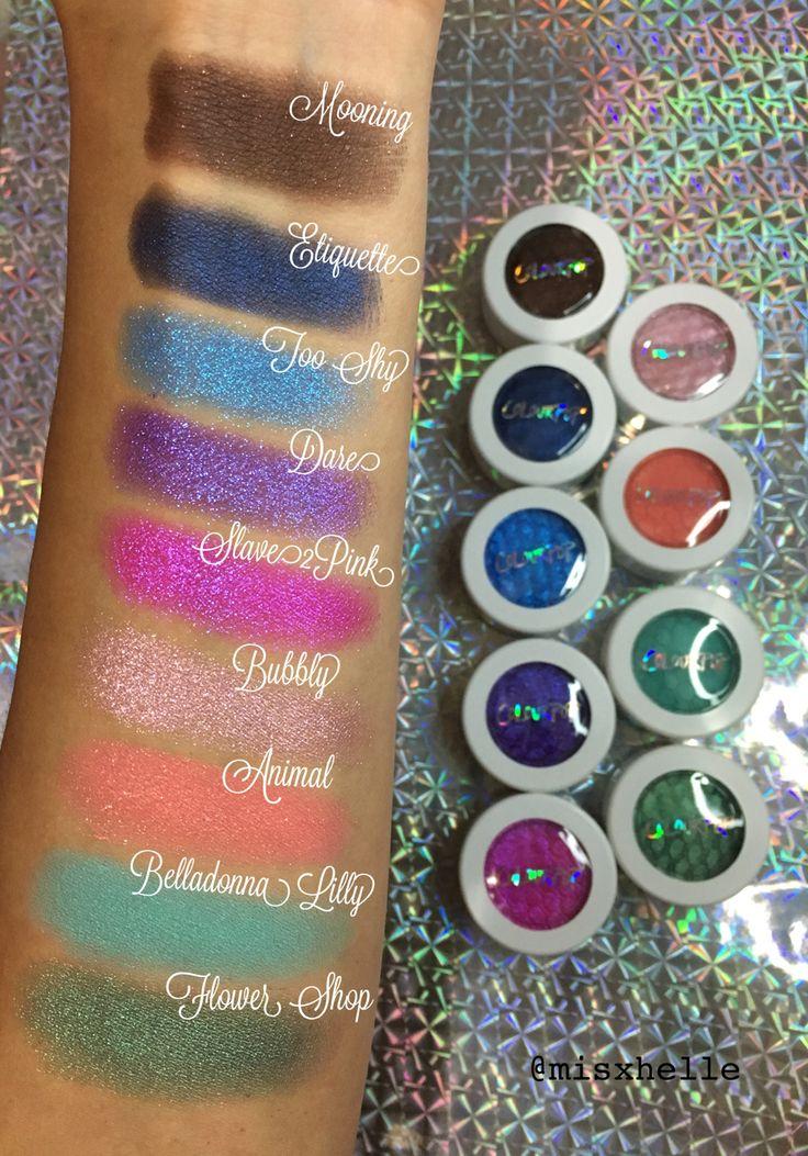 Swatches Of Colourpop Martian Helium And Utopia Tie Dye: ColourPop Super Shock Eyeshadow Swatches Part-1 Mooning