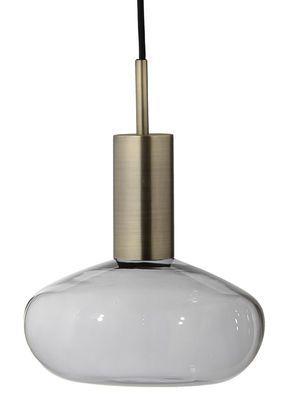 Pendelleuchte Gambi / mundgeblasenes Glas - Aufhängung Messing, Glas transparent / messingfarben von ENOstudio finden Sie bei Made In Design, Ihrem Online Shop für Designermöbel, Leuchten und Dekoration.