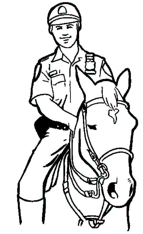 Printable Policeman Coloring Pages In 2020 Horse Coloring Pages Paw Patrol Coloring Pages Horse Coloring
