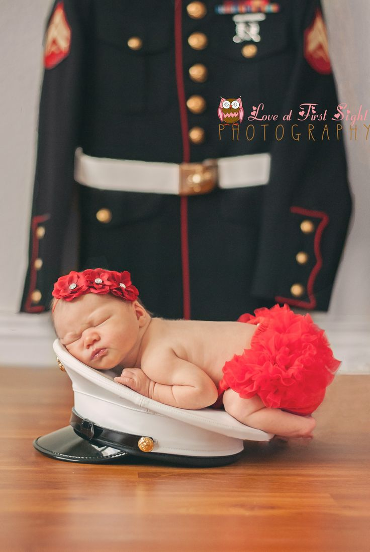 USMC dress blues Newborn Photography #marines #military #usmc #newborn