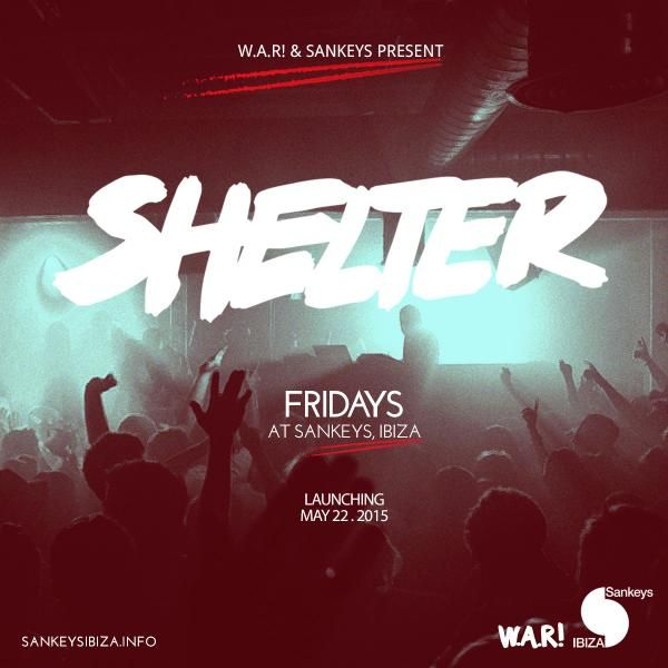 The party We Are Rockstars continues at @SankeysIbiza with SHELTER. Every Friday from May 22nd.
