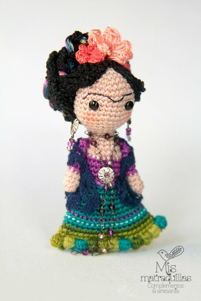 Frida Kahlo amigurumi doll