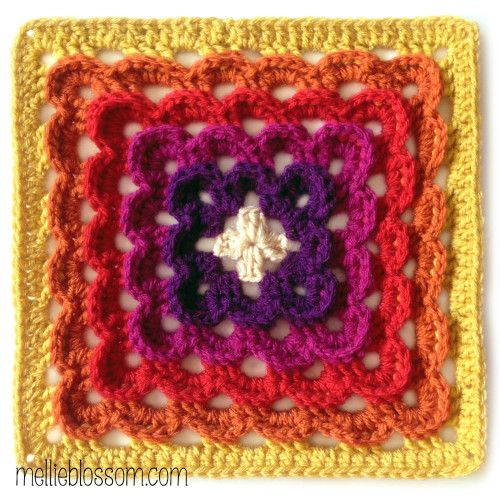 Crochet Along Squares Yarn clouds square