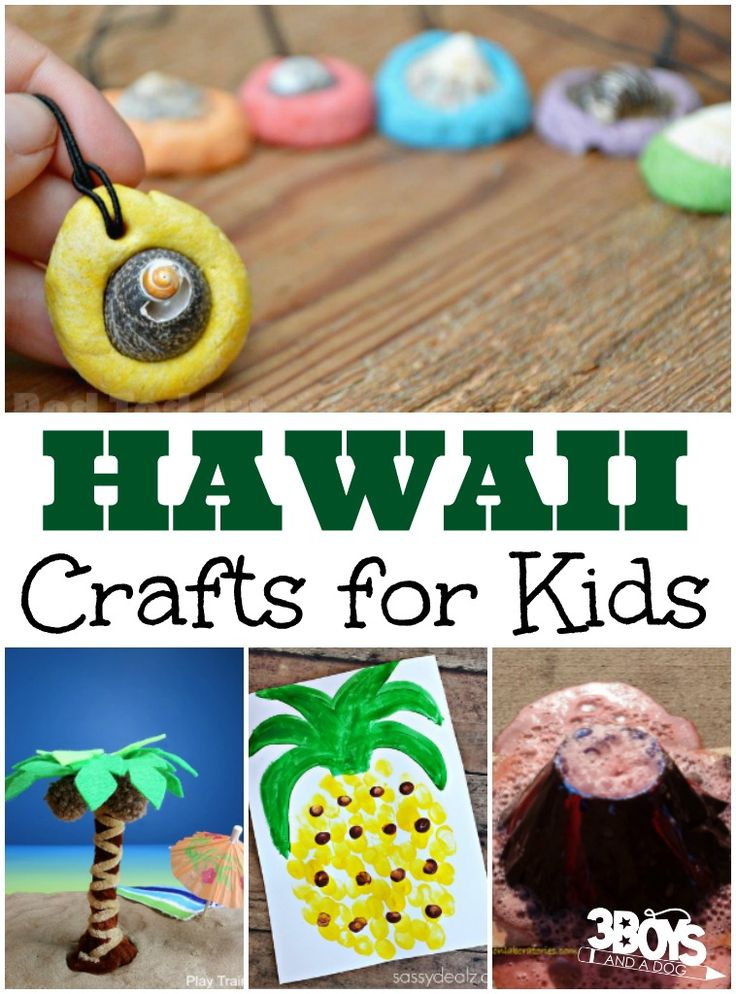 Hawaii Crafts for Kids - 3 Boys and a Dog