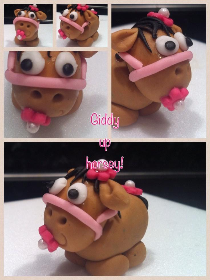 Horse cupcake topper.