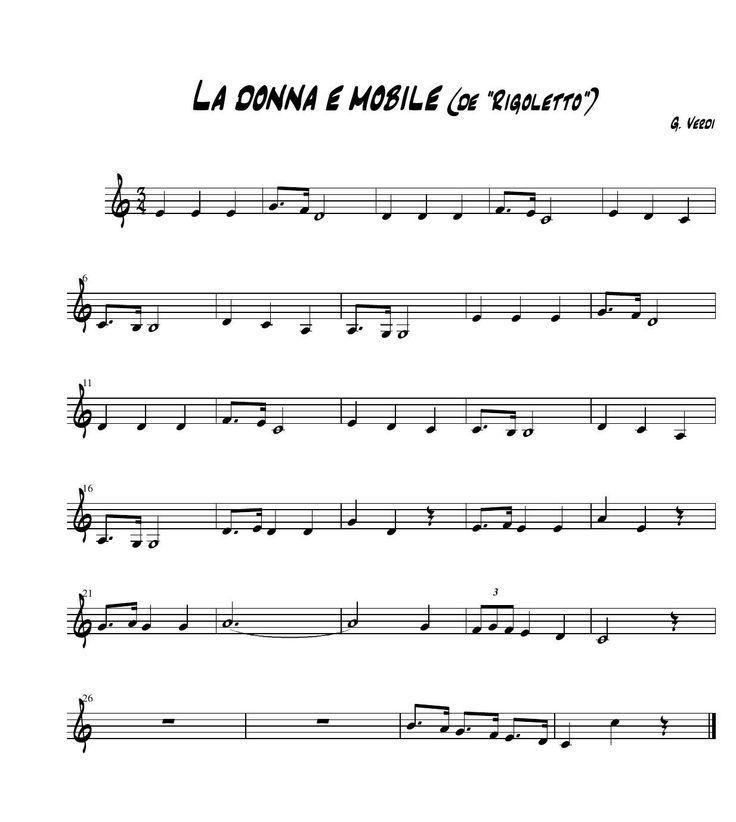 #ClippedOnIssuu from La donna e mobile #Flauta #Dulce