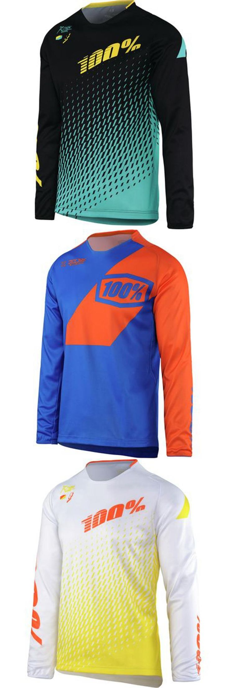 [Visit to Buy] 2017 100% DH JERSEY downhill Bike long sleeve cycling Jersey MX RBX moto Off-road Motocross shirt maillot ciclismo MTB  #Advertisement