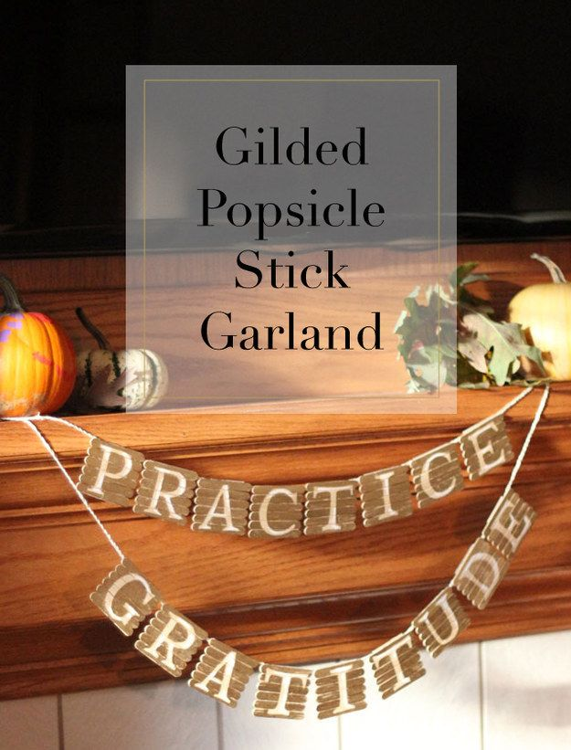 This garland for all your important messages is made from popsicle sticks!