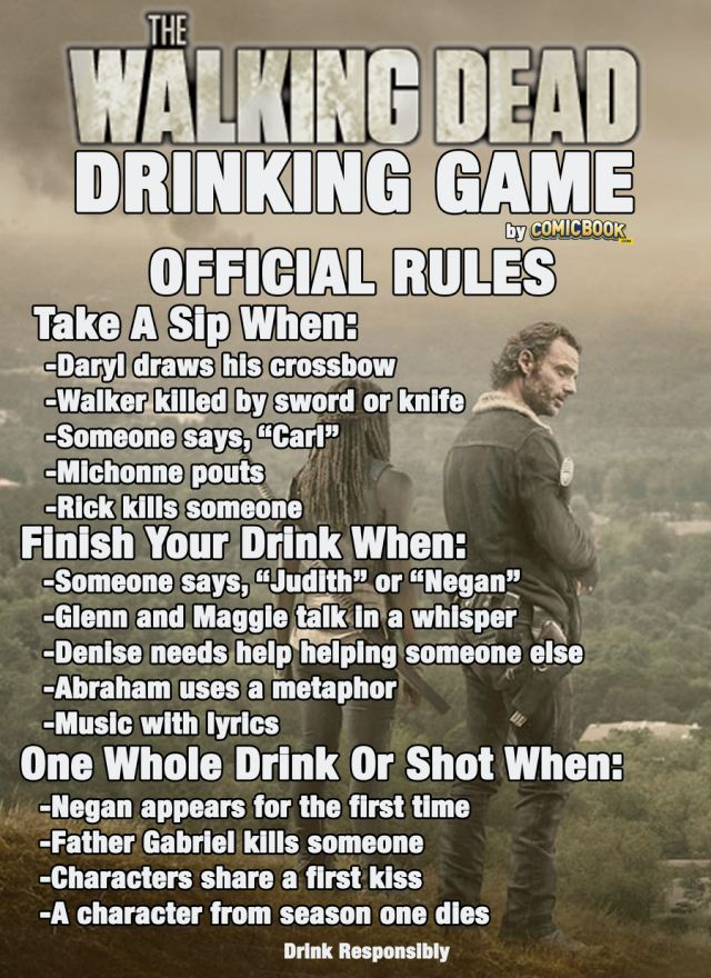 TWD S6 Drinking Grame